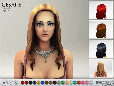 custom hair for sims 4 mj95 s madlen cesare hair