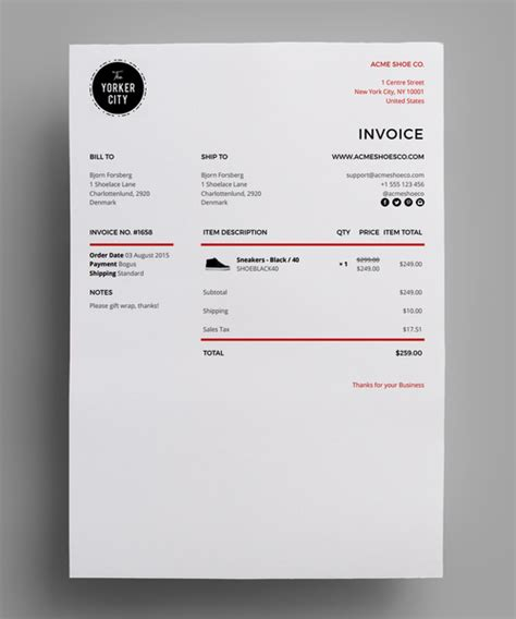 shopify invoice template minimal invoice template for shopify s order printer