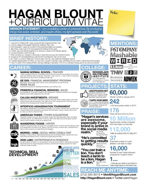 Resume Infographic by Infographic Resume In Precised Detailed Visualisation
