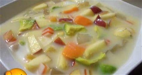 membuat sop buah sederhana resep cara membuat sop buah segar ala teh ine