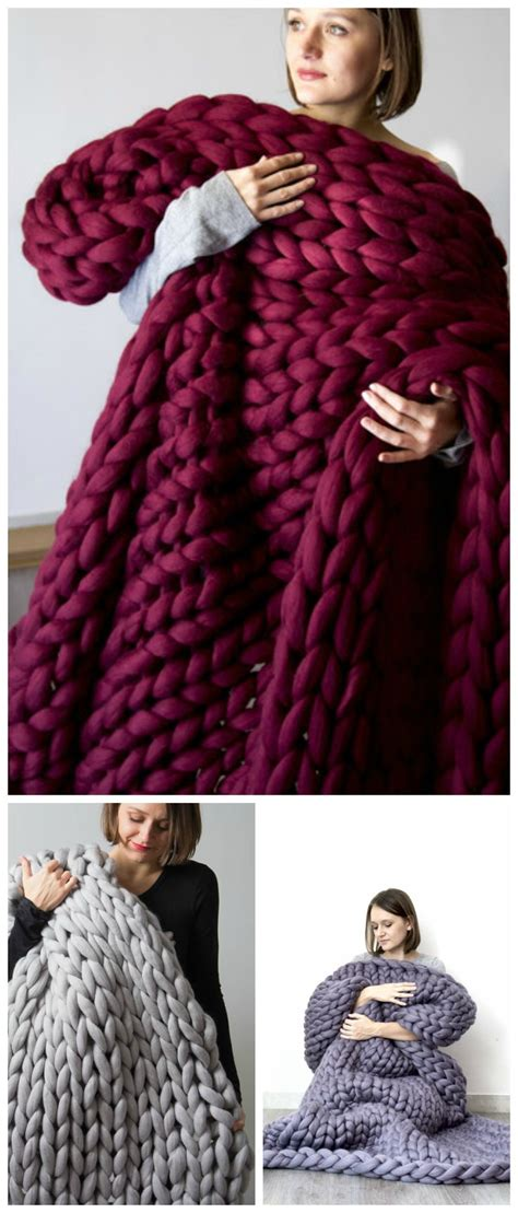 Decke Wolle by 25 Best Ideas About Chunky Knit Blankets On
