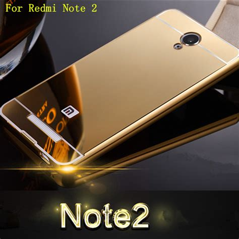Xiaomi Note 1 3g4g Alumunium Metal Mirror for xiaomi redmi note 2 prime luxury chrome aluminum metal mirror arcylic back cover capa