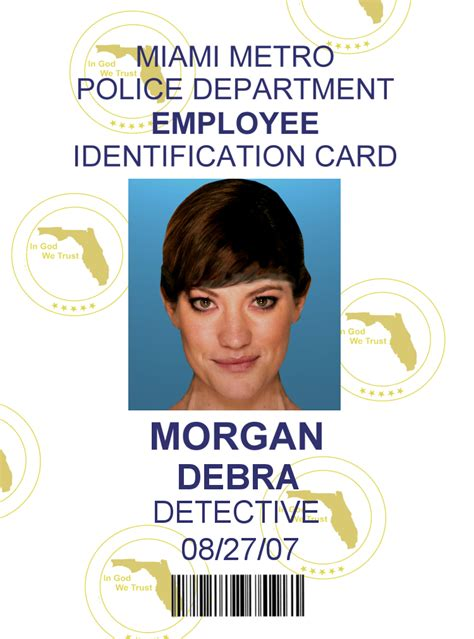 id card template word 2010 debra id badge with a small s