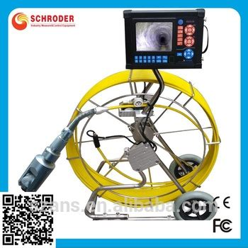 underwater sewer pipe inspection camera system with video