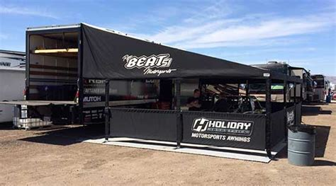 race awning holiday motorsports awnings frame styles single beam