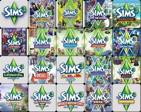 the sims 3 hairstyles and their expansion pack the sims 3 expansion pack order