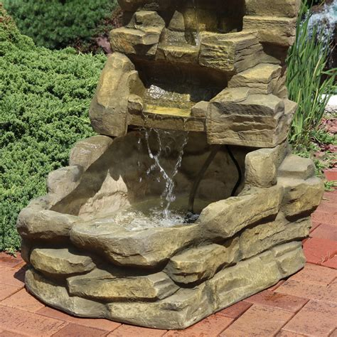 ls plus outdoor fountains sunnydaze falls outdoor water fountains