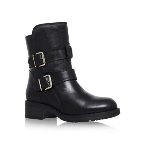 ladies ankle biker boots richmond black low heel ankle boots by kurt geiger london