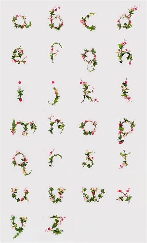 printable alphabet letters with flowers floral alphabet on behance