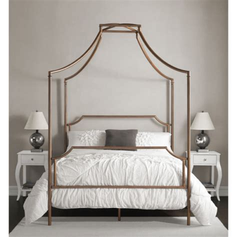 Metal Canopy Bed Frame Modern Contemporary Size Canopy Bed Frame Antique Brushed Copper Metal Ebay