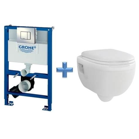 grohe toilette grohe rapid sl 0 82m 3 in 1 wc set 38773 c w ivo wall hung