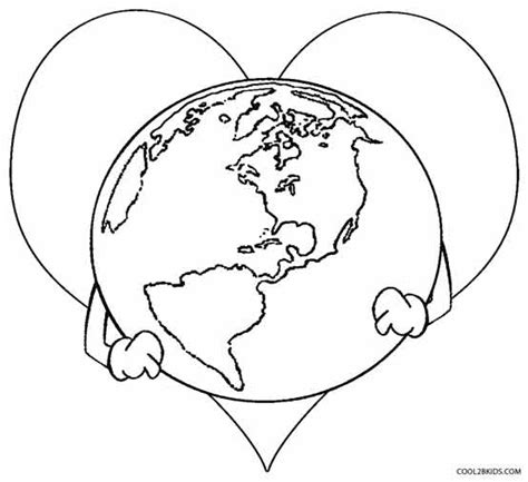 coloring page the earth printable earth coloring pages for kids cool2bkids