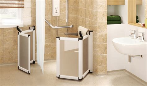 Disabled Half Height Shower Doors by Shower Room And Wetroom Elevate Half Height Carer Doors