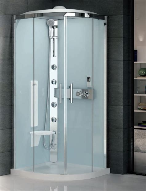 All In One Corner Shower Unit Quadrant Hydro Shower Cubicle Silicone Free