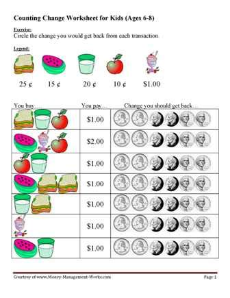 Money Skills Worksheets by There Is There Are Worksheets For