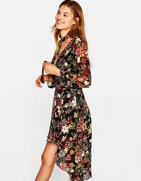 avondjurk bershka bershka zwarte jurk met split populaire jurken uit de