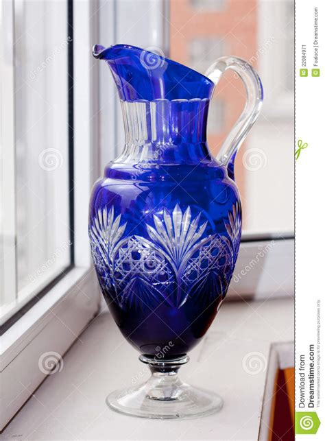 Antique Blue Vase by Vintage Blue Vase Stock Image Image 22084971