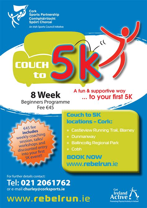 couch to walk 5k cork sports partnership couch to 5k training programme