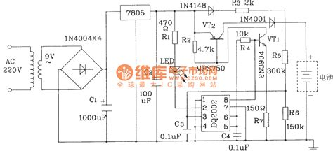 fast integrator circuit battery fast charge circuit composed of bq2002 battery fast charge integrated circuit