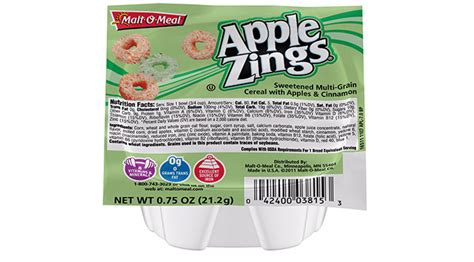 apple zings malt o meal small bowl apple zings cereal food service
