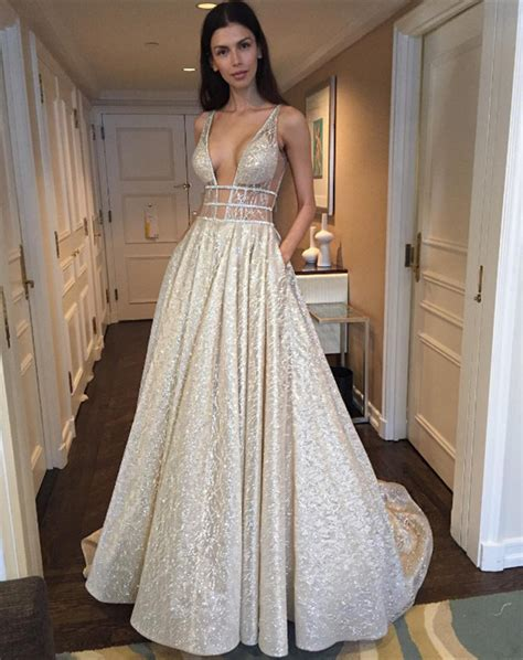 Sequin Gown Couture Dress Gaun Tulle Anak High Fashion v neck sleeveless prom dress 2018 sequins ba3399 prom dresses special occasion dresses
