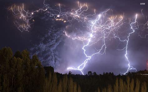 nice thunder storm trees smoke wallpapers nice thunder