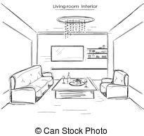 living room drawing divan clip vector graphics 495 divan eps clipart