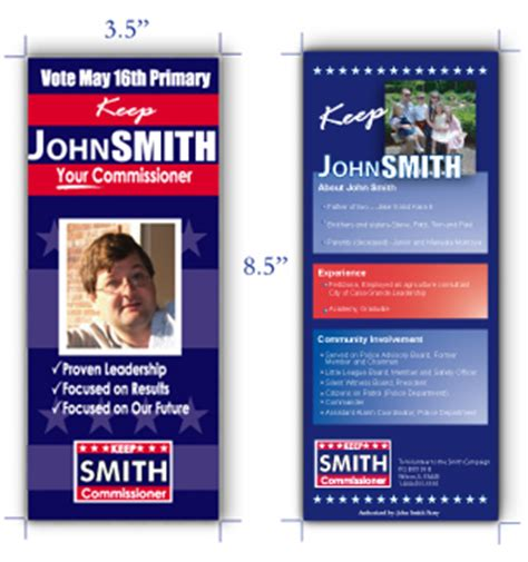 free political palm card template win your caign with effective caign palm cards