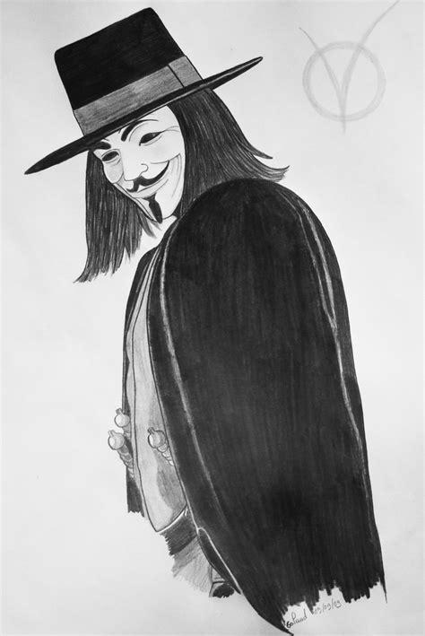 Drawing V For Vendetta by V For Vendetta By Galaad Phantom On Deviantart