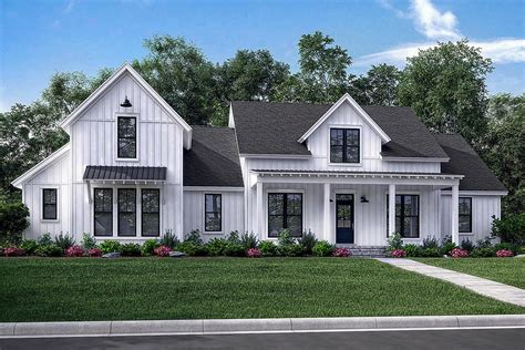 farmhouse plan modern farmhouse plan 2 742 square 4 bedrooms 3 5