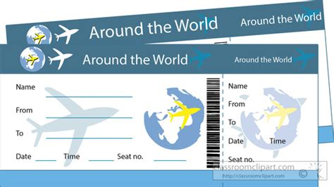 travel clipart around the world plane ticket clipart 5182 classroom clipart