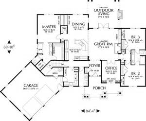 3 Feet Plan by Craftsman Style House Plan 3 Beds 2 5 Baths 2233 Sq Ft