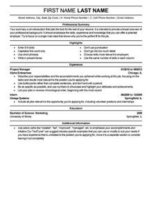 Professional Resume Word Template by Free Resume Templates 20 Best Templates For All