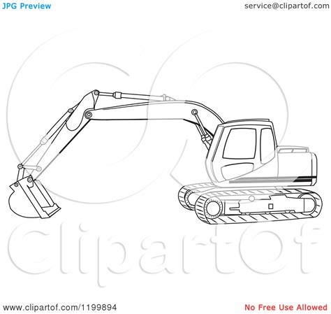 mini excavator coloring pages excavator tracks clipart clipground