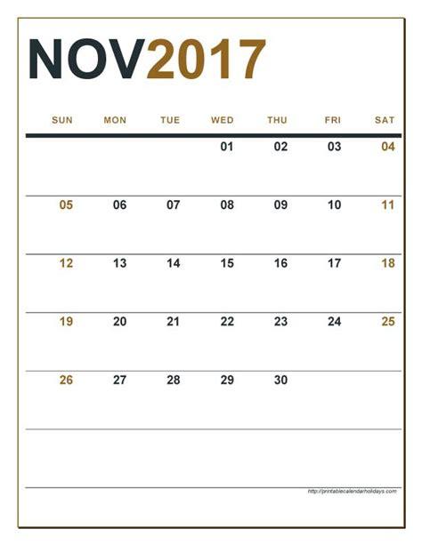 Calendar 2017 November Editable Editable Calendar November 2017 Calendar Printable 2017