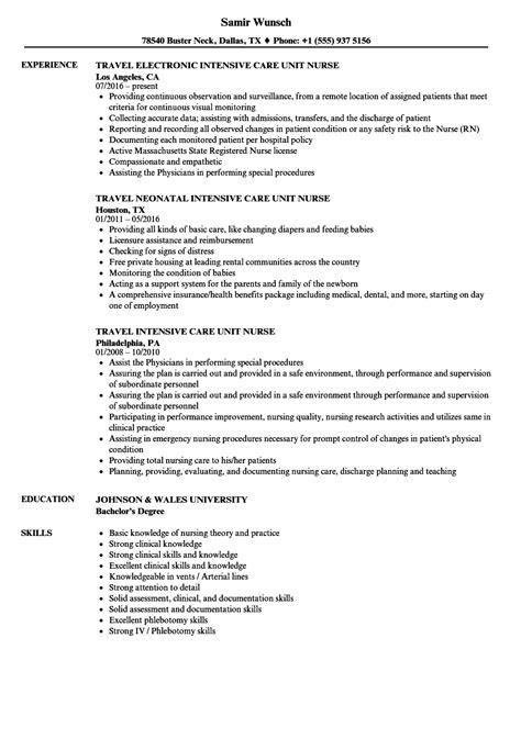 Intensive Care Unit Resume Objective intensive care unit resume sles velvet