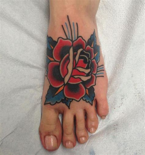 foot tattoo rose foot tattoos shortlist
