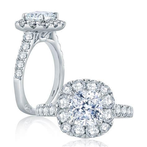 a jaffe 18 karat signature engagement ring mes864 tq