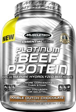 Beef Protein essential series platinum 100 beef protein by muscletech