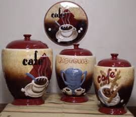 Burgundy Kitchen Canisters cafe decoration joy studio design gallery best design