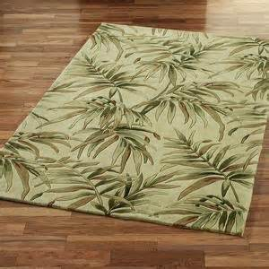 Round Throw Rug Palm Fronds Area Rugs Tropical Rugs Area Rugs Touch