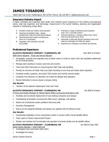 Allstate Claims Adjuster Sle Resume by J Tosadori Resume