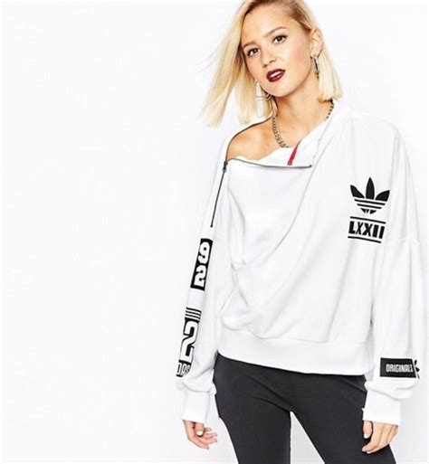 Sweater White Original sweater white sweater adidas originals white wheretoget