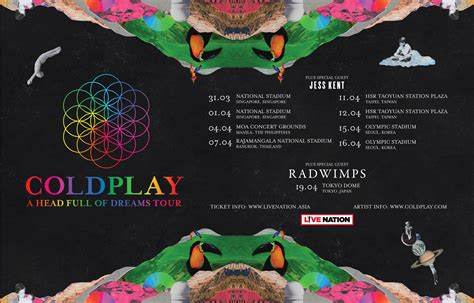 coldplay tour dates 2018 2017 ahfodtour special guests announced coldplay