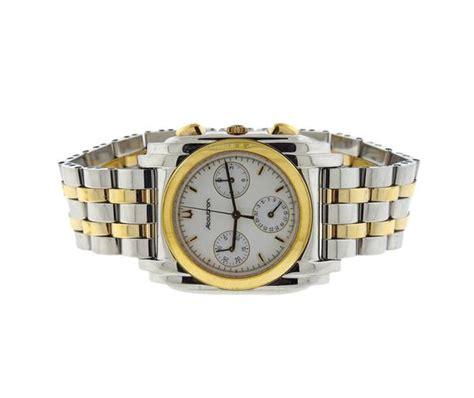 bulova accutron chronograph 18k gold steel quartz
