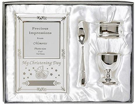 7 Beautiful Christening Gifts by Beautiful Boxed Silver Plated Christening Day Gift Set 4