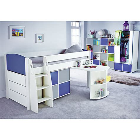 Midi Sleeper Bed With Desk by Uno S Midsleeper Bed With Desk Chest Of Drawers Cube By