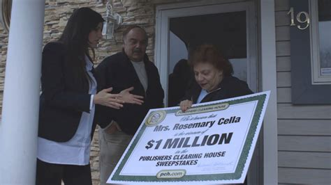 1 million publishers clearing house winner rosemary cella