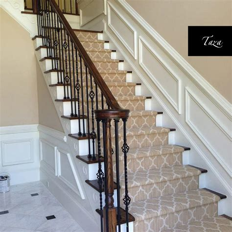 Contemporary Bathroom Tile Ideas Geometric Stair Runner Love Your Stairs Gallery With