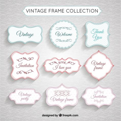 vintage frame collection vector free